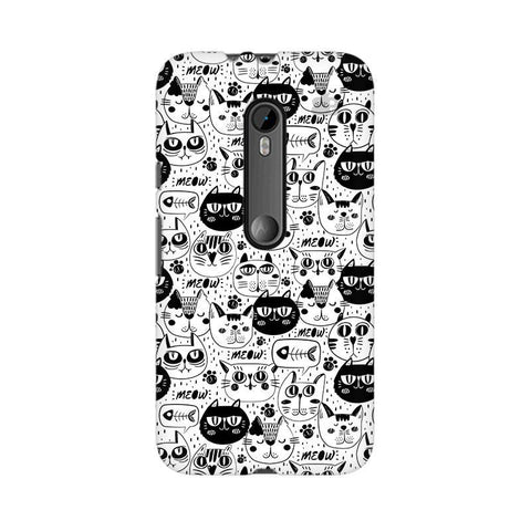 Cute Cats Pattern Moto X Play Phone Cover