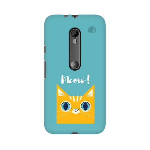 Meow Moto X Play Phone Cover