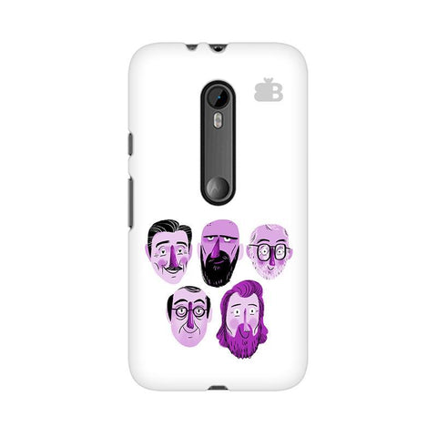 5 Bearded Faces Moto X Style Phone Cover