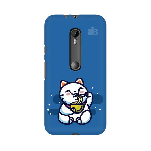 KItty eating Noodles Moto X Style Phone Cover