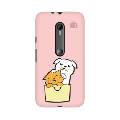 Kitty Puppy Buddies Moto X Style Phone Cover