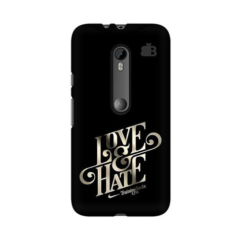 Love & Hate Moto X Style Phone Cover
