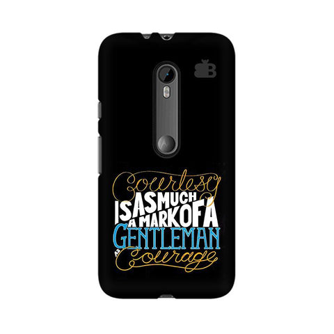 Mark of Gentleman Moto X Style Phone Cover