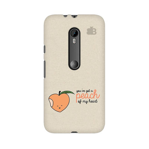 Peach of my heart Moto X Style Phone Cover