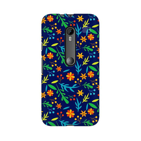 Vibrant Floral Pattern Moto X Style Phone Cover