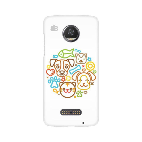 Cute Pets Moto Z2 Play Phone Cover