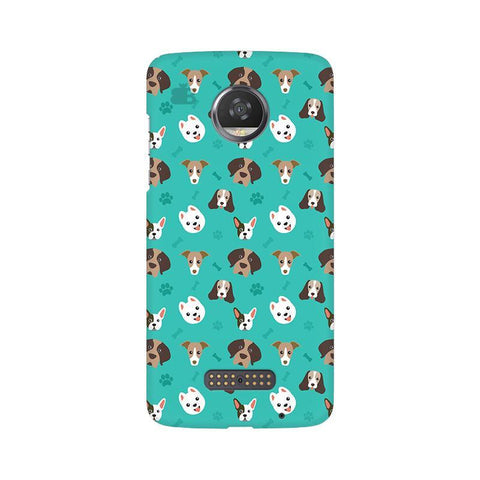 Doggie Pattern Moto Z2 Play Phone Cover