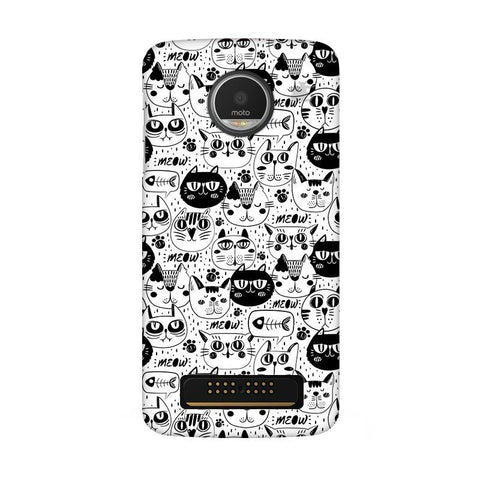 Cute Cats Pattern Moto Z Play Phone Cover