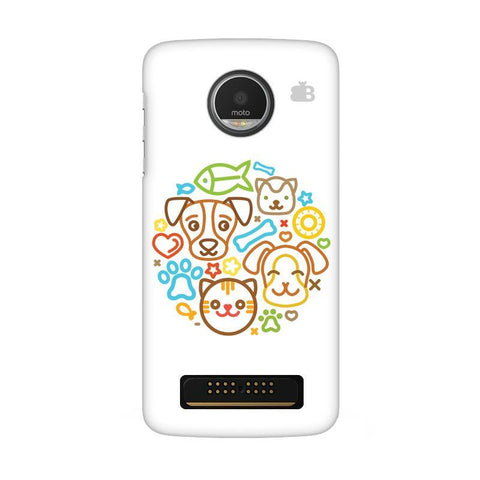 Cute Pets Moto Z Play Phone Cover