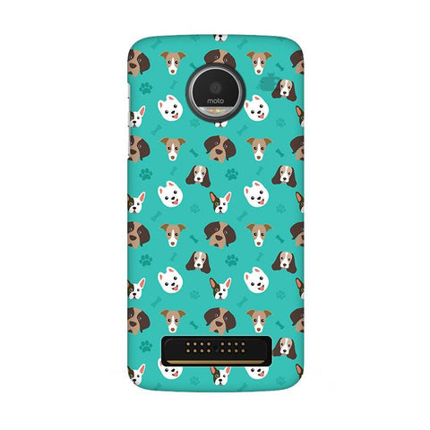 Doggie Pattern Moto Z Play Phone Cover