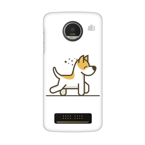 Happy Puppy Moto Z Play Phone Cover