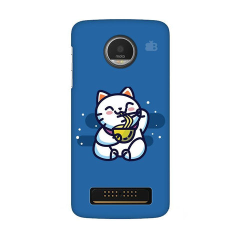 KItty eating Noodles Moto Z Play Phone Cover