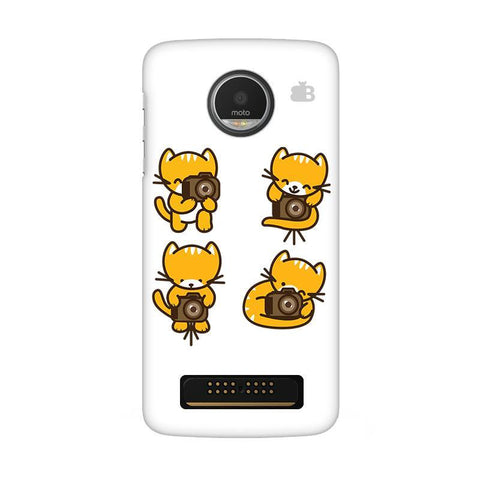 Photographer Kitty Moto Z Play Phone Cover