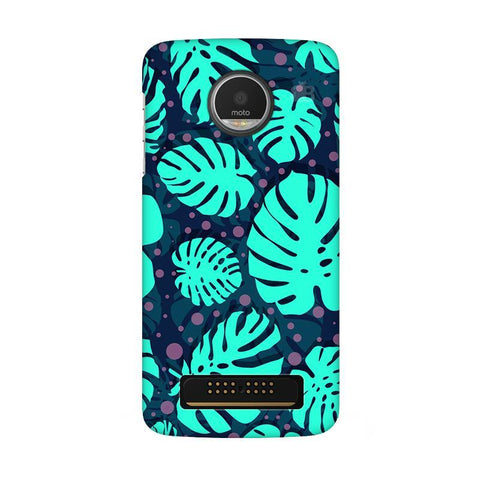 Tropical Leaves Pattern Moto Z Play Phone Cover