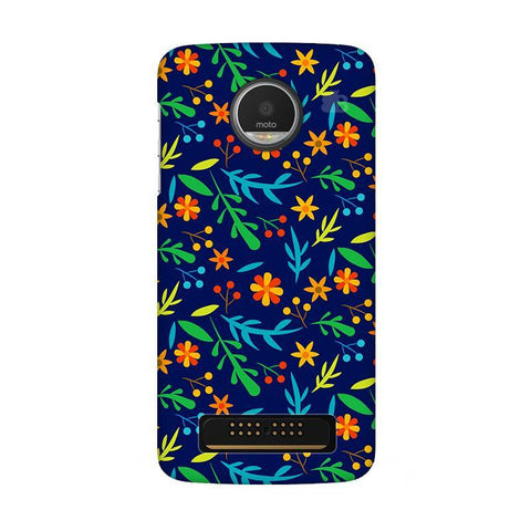 Vibrant Floral Pattern Moto Z Play Phone Cover