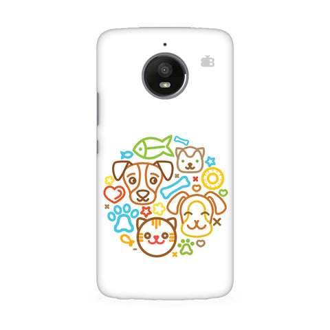 Cute Pets Motorola E6 Cover