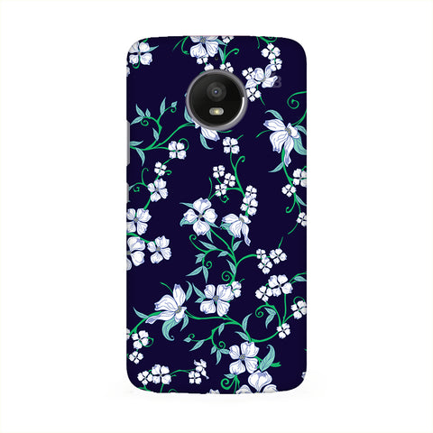 Dogwood Floral Pattern Motorola E6 Cover