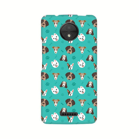 Doggie Pattern Motorola Moto C Plus Phone Cover