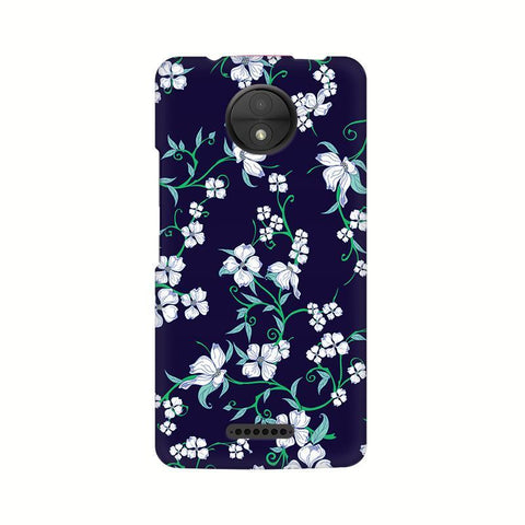 Dogwood Floral Pattern Motorola Moto C Plus Phone Cover