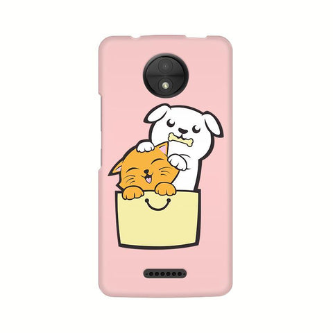 Kitty Puppy Buddies Motorola Moto C Plus Phone Cover