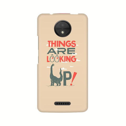 Things are looking Up Motorola Moto C Plus Phone Cover