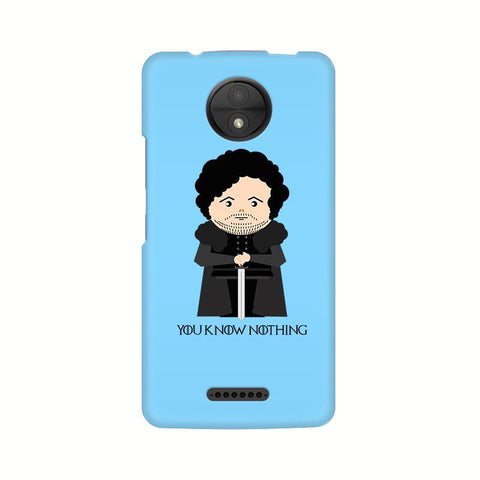 You Know Nothing Motorola Moto C Plus Phone Cover