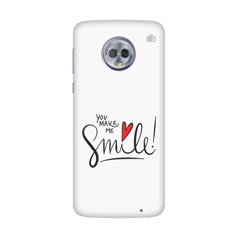 You make me Smile Motorola Moto G6 Cover