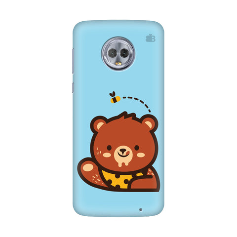 Bear Loves Honey Motorola G6 Plus Cover