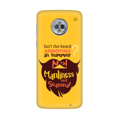 Beard Brown Motorola G6 Plus Cover
