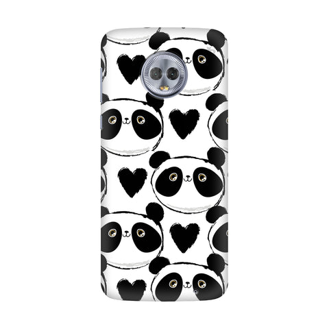 Happy Panda Pattern Motorola G6 Plus Cover