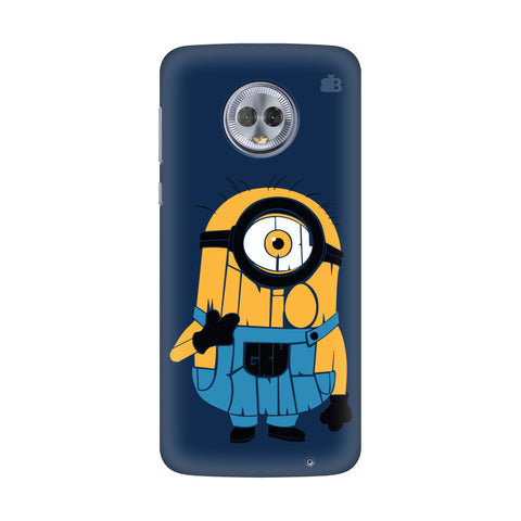 Minion Typography Motorola G6 Plus Cover