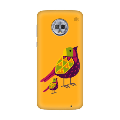 Mom Kid Bird Motorola G6 Plus Cover