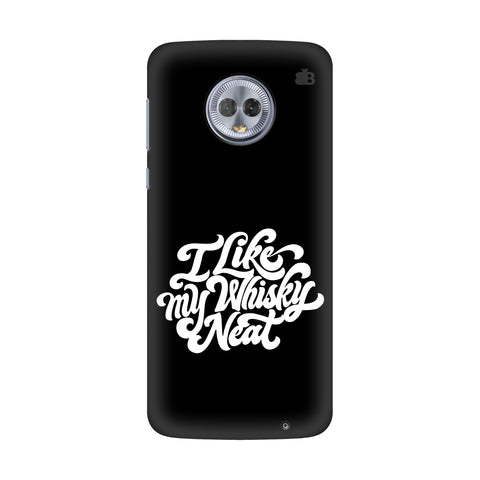Whiskey Neat Motorola G6 Plus Cover