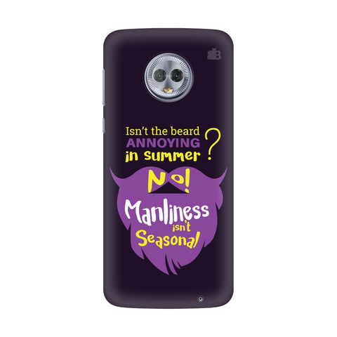 Beard Purple Motorola Moto G7 Power Cover