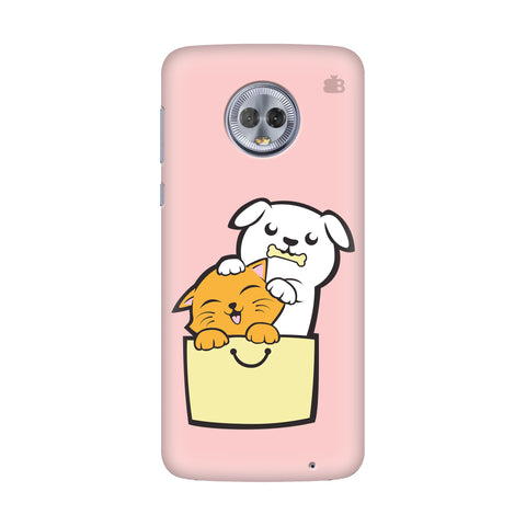 Kitty Puppy Buddies Motorola Moto G7 Power Cover