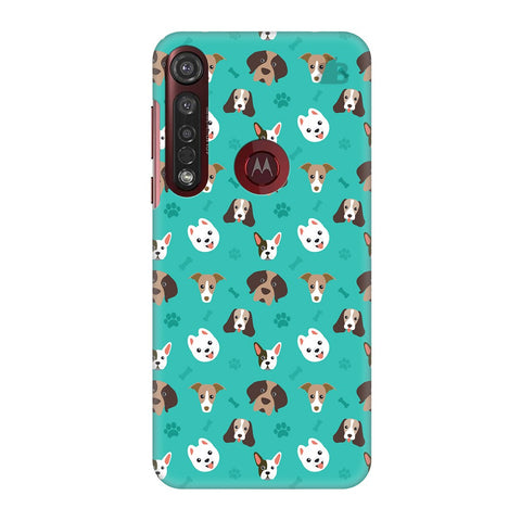 Doggie Pattern Moto G8 Plus Cover