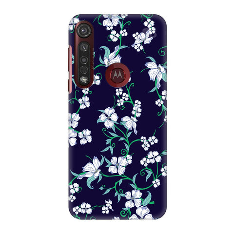 Dogwood Floral Pattern Moto G8 Plus Cover
