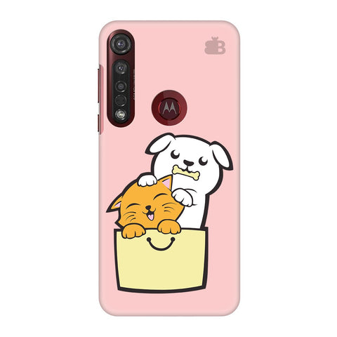 Kitty Puppy Buddies Moto G8 Plus Cover