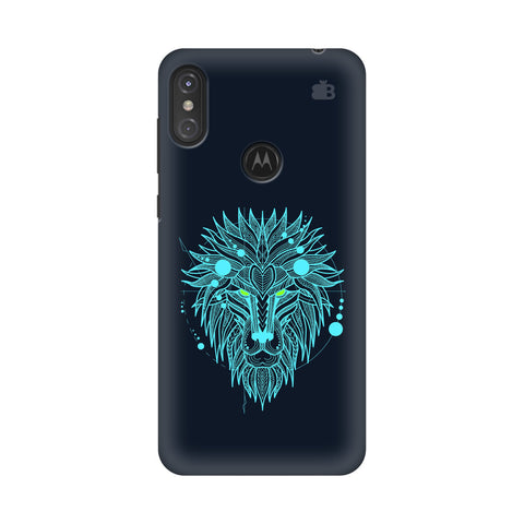 Abstract Art Lion Motorola Moto One Power Cover