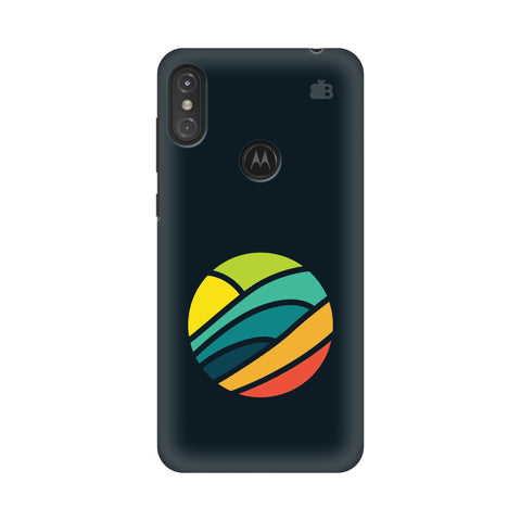 Abstract Circle Motorola Moto One Power Cover