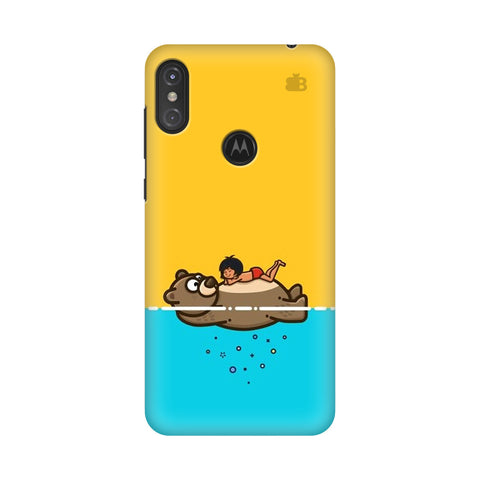 Baloo and Mowgli Motorola Moto One Power Cover