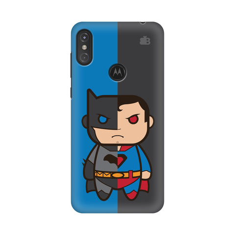 Cute Superheroes Annoyed Motorola Moto One Power Cover