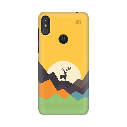 Deer in Mountains Motorola Moto One Power Cover