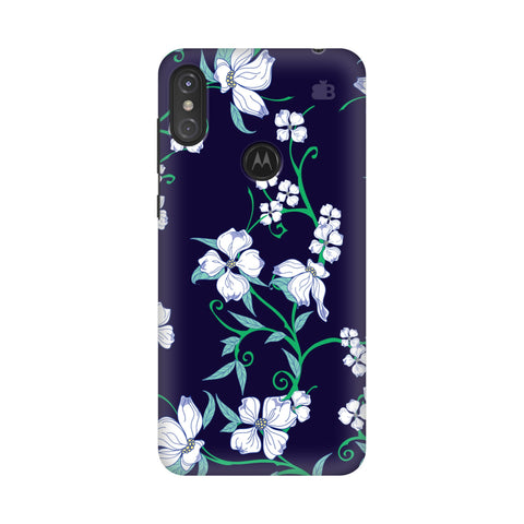 Dogwood Floral Pattern Motorola Moto One Power Cover