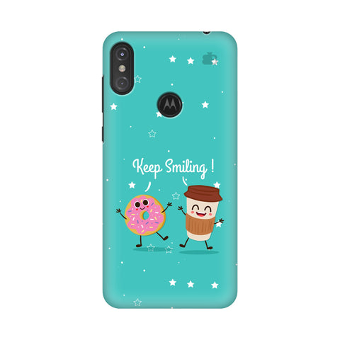 Keep Smiling Motorola Moto One Power Cover