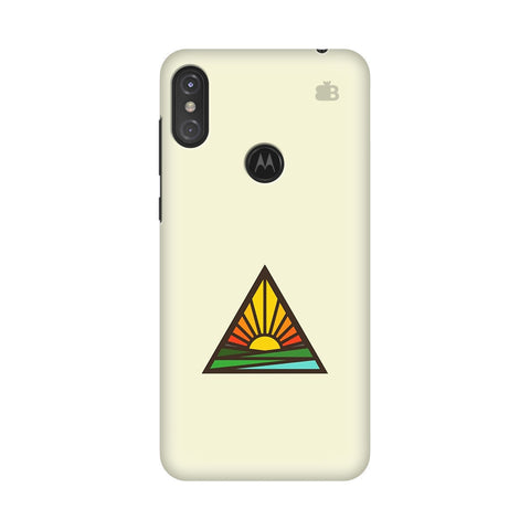 Triangular Sun Motorola Moto One Power Cover