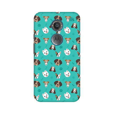 Doggie Pattern Motorola Moto X2 Phone Cover