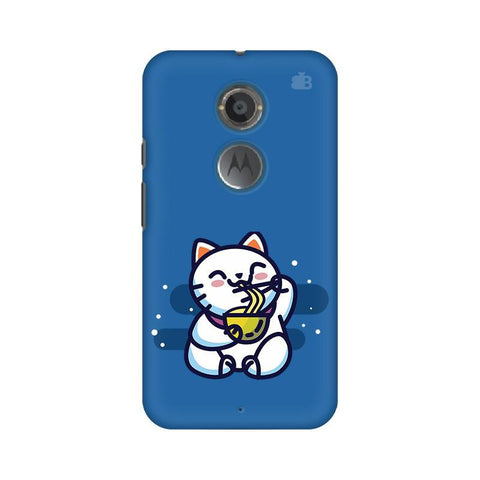 KItty eating Noodles Motorola Moto X2 Phone Cover