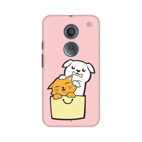 Kitty Puppy Buddies Motorola Moto X2 Phone Cover