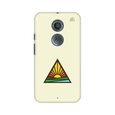 Triangular Sun Motorola Moto X2 Phone Cover